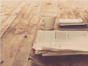 Rouwadvertenties in de krant